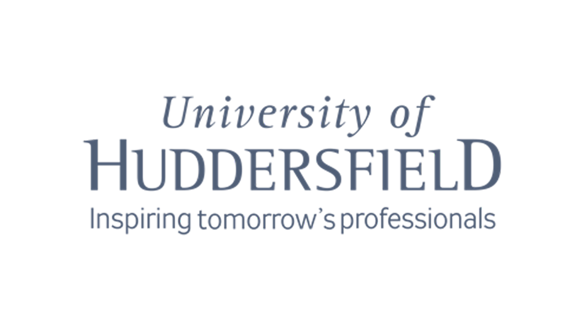 The logo for the University of Huddersfield
