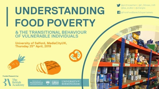 Understanding Food Poverty & the Transitional Behaviour of Vulnerable Individuals. University of Salford, MediaCityUK, Thursday 25th April, 2019