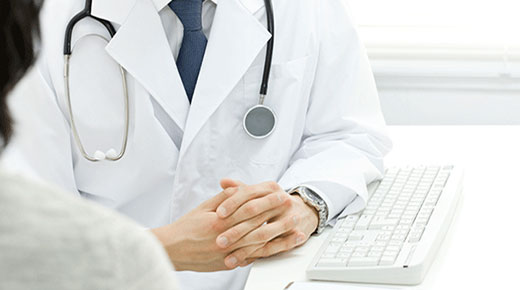 Image of healthcare professional with stethoscope